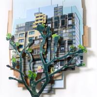 Blændværk,   132 x 103 x 16 cm