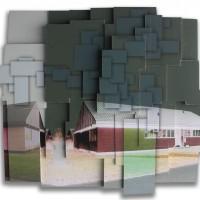 Slagmark #1, 65 x 59 x 8 cm