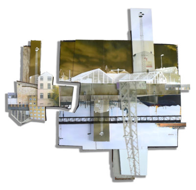 Junction, 114 x 112 x 6 cm